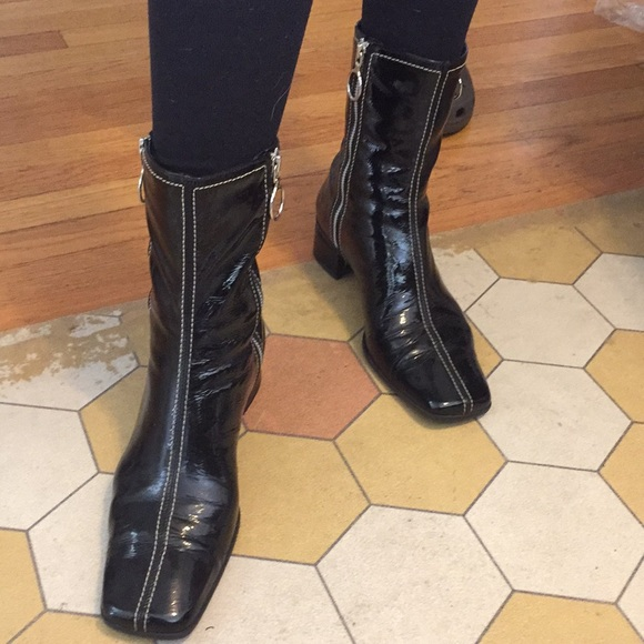 Black Patent Leather Boots   Poshmark